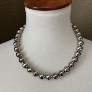 Vintage Korea Silver Beaded Necklace